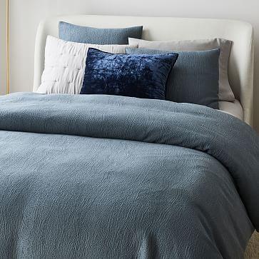 Silky TENCEL Cotton Matelasse Duvet, King/Cal. King, Stormy Blue