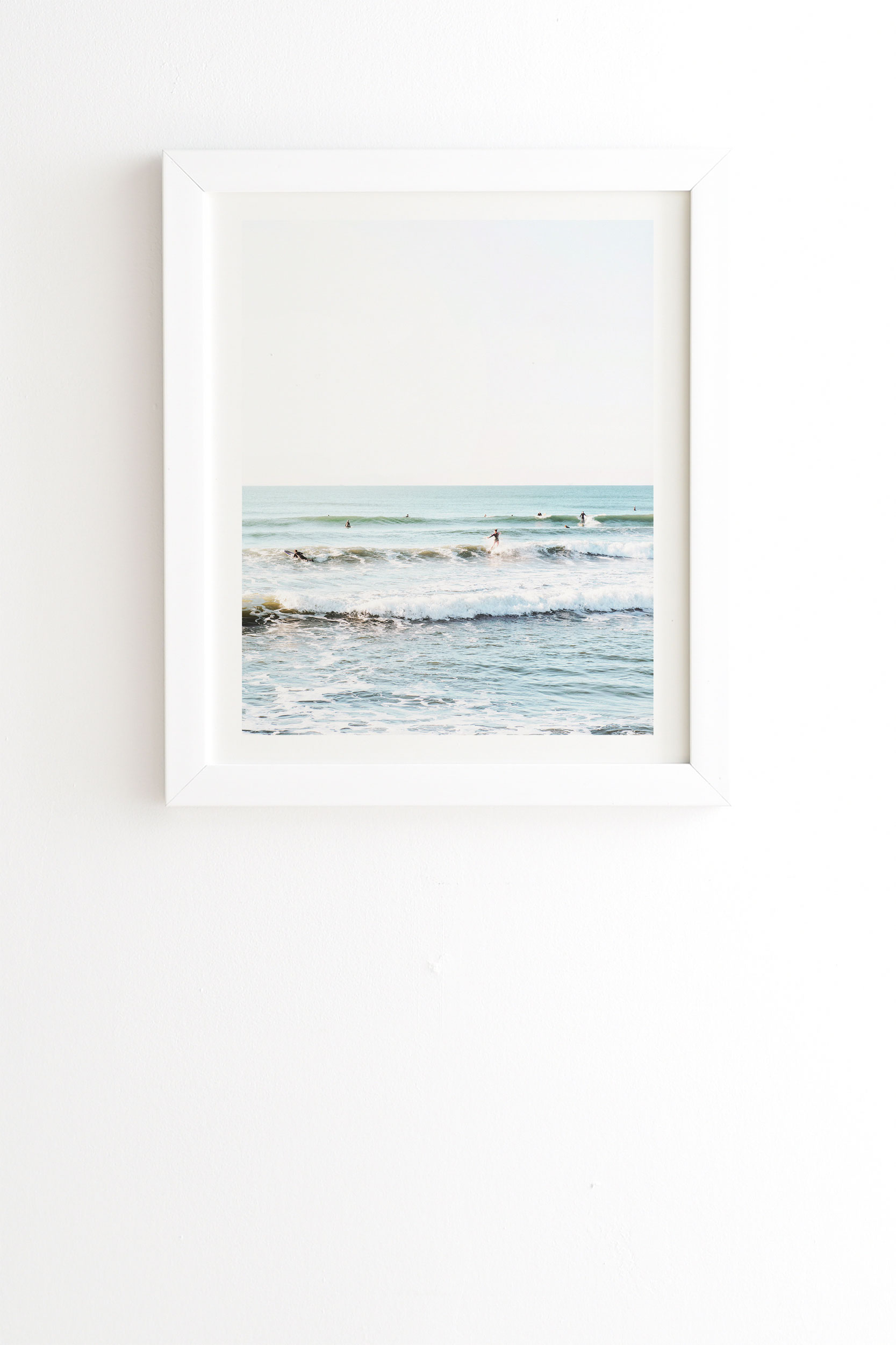 """Surfers Point by Bree Madden - Framed Wall Art Basic White 30"""" x 30"""""""