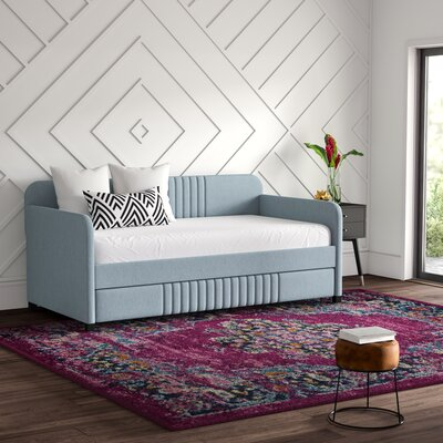 Aaru Upholstered Twin Daybed with Trundle