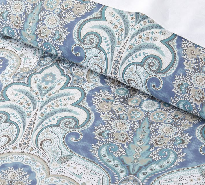 Jordana Duvet Cover, King/Cal King, Blue Multi