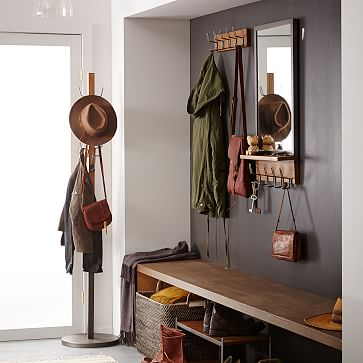 Industrial Storage Small Cabinet, Mango, Blackened Steel