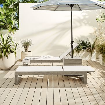 Portside Umbrella Holder Side Table, Driftwood