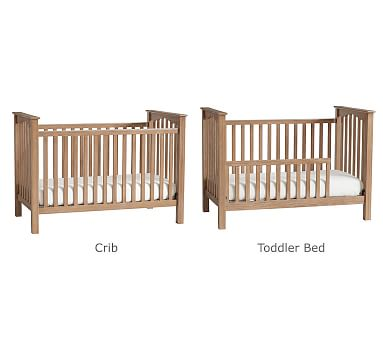 Kendall Low-Profile Convertible Crib, Simply White, In-Home Delivery