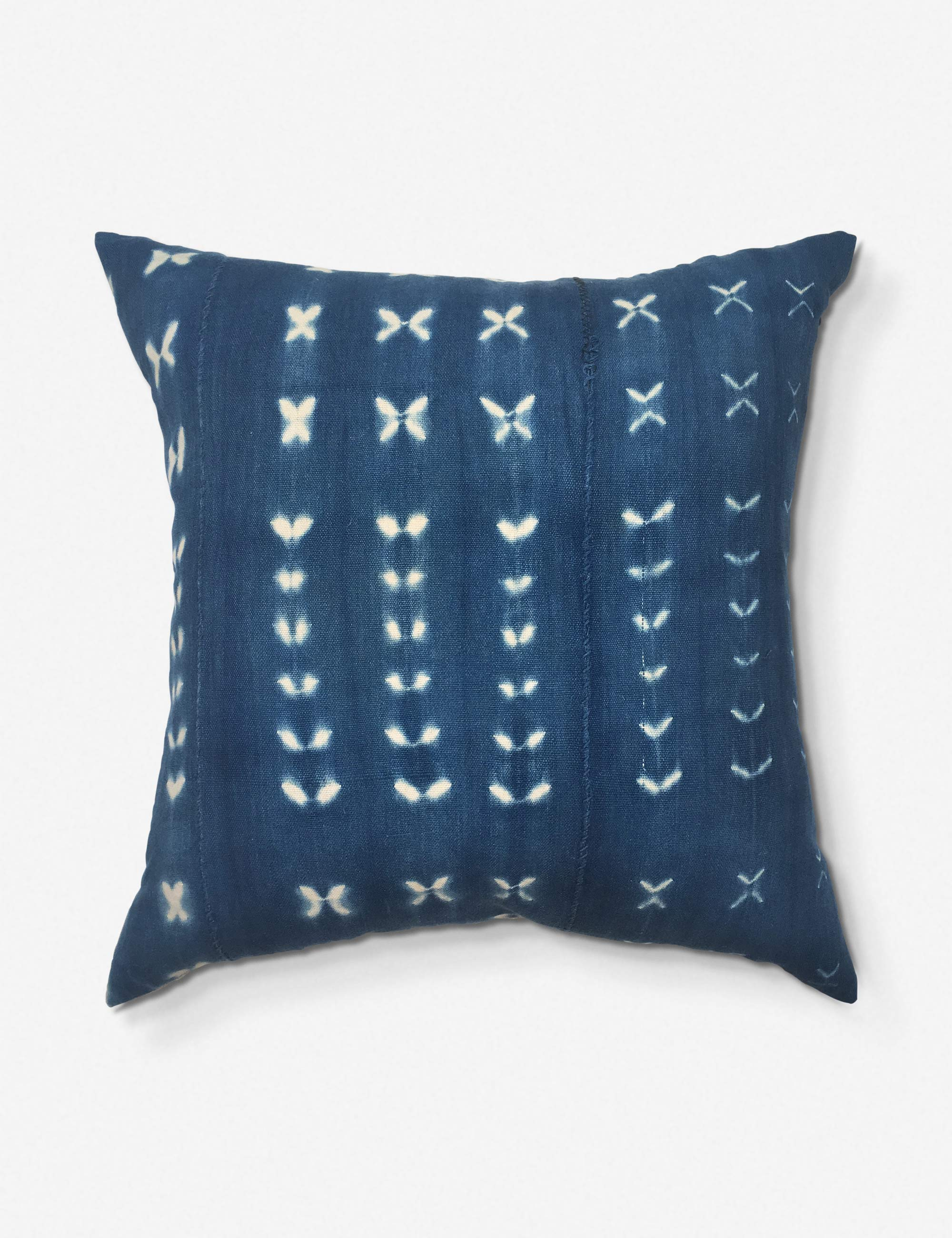 Neha One of a Kind Indigo Mudcloth Pillow