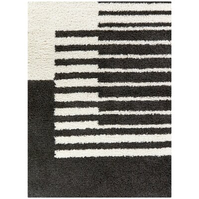 Gurpreet Power Loom Charcoal White Rug Wayfair