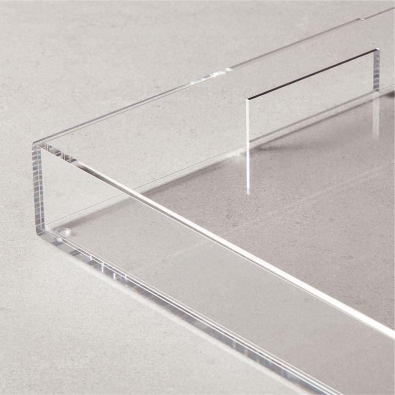 Acrylic Clear Tray 16x16