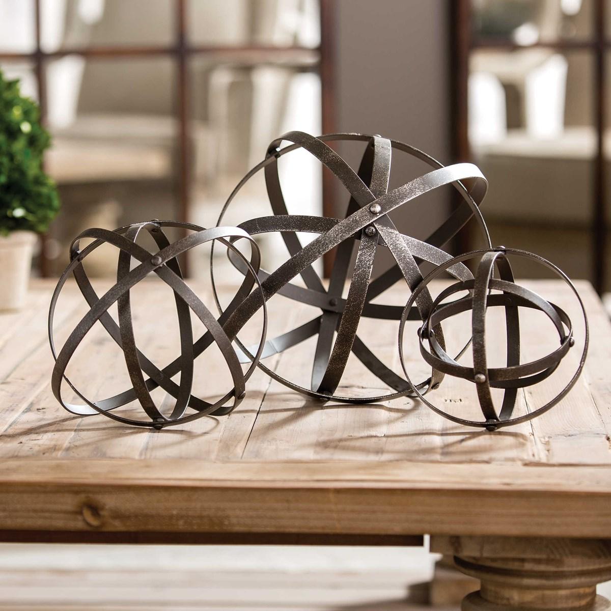 Stetson Decor Spheres, Set of 3
