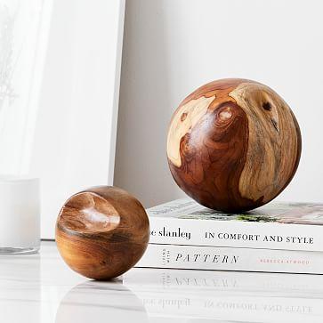 Teak Root Ball Decor, Set of 2