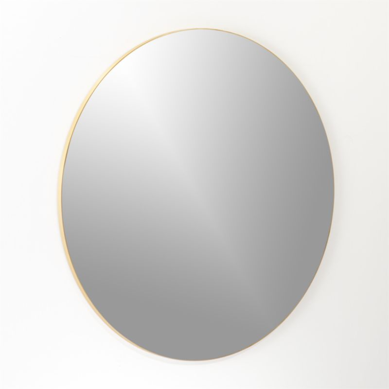 "Infinity Brass Round Wall Mirror 48"""