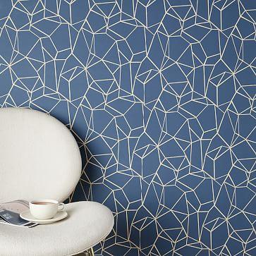 Chasing Paper Geo Prisms Wallpaper, Neutral