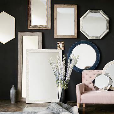Parsons Floor Mirror, Bone Inlay